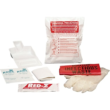 Fluid Spill Clean-Up Kits, Standard Kits, SAY557, Body Fluids, 12/Pack