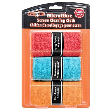 Emzone 47067 Microfibre Cleaning Cloth, 12 Pack