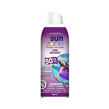 SunZone 25438 Kids Continuous Clear Spray Sunscreen, SPF 50+