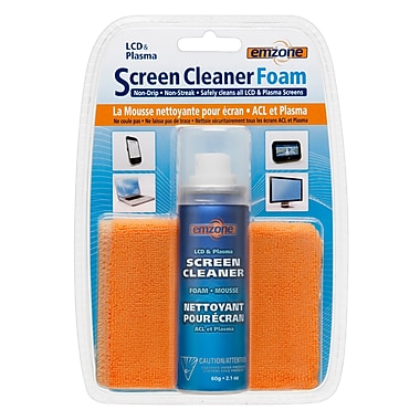 Emzone 47070 LCD & Plasma Foam Screen Cleaner with Cloth Kit, 12 pack