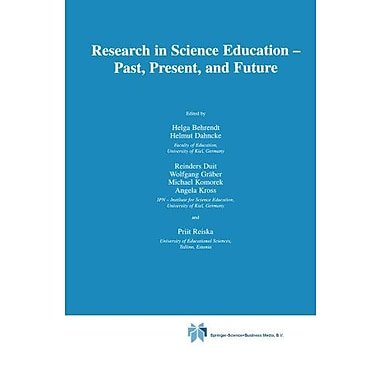 Research in Science Education Past, Present, and Future, New Book (9789048156313)