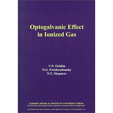 Optogalvanic Effect in Ionized Gas, New Book (9789069940014)