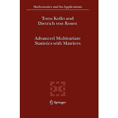 Advanced Multivariate Statistics with Matrices (Mathematics and Its Applications), Used Book (9789048168590)