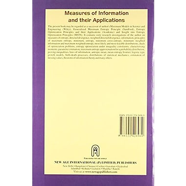 Measures of Information & Their Applications, New Book (9788122426960)