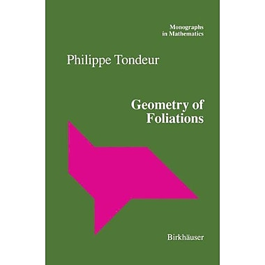 Geometry of Foliations (Monographs in Mathematics), Used Book (9783764357412)