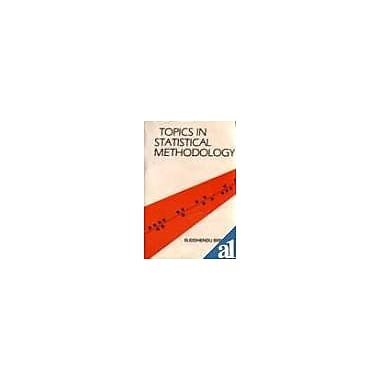 Topics in statistical methodology, Used Book (9788122402476)