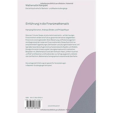 Einfuhrung in die Finanzmathematik (Mathematik Kompakt) (German Edition), Used Book (9783764387839)