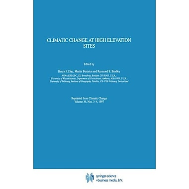 Climatic Change at High Elevation Sites, New Book (9789048148905)