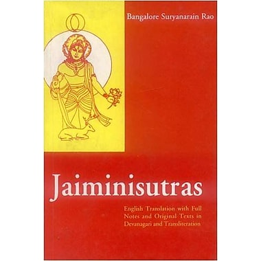 Jaiminisutras(English Translation with Full Notes & Original Texts in Devanagari & Original T (9788120813922)