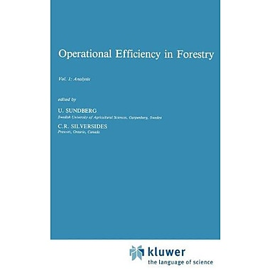 Operational Efficiency in Forestry: Vol. 1: Analysis (Forestry Sciences), Used Book (9789024736836)