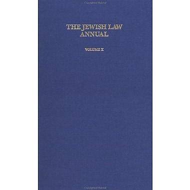 Jewish Law Annual (Vol 10), New Book (9783718605460)