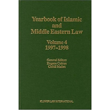 Yearbook of Islamic and Middle Eastern Law, Vol. 4: 1997-1998 (9789041105936)