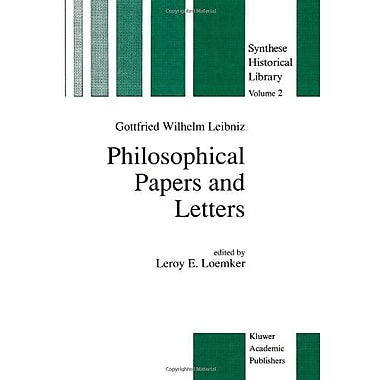 Philosophical Papers and Letters: A Selection (Synthese Historical Library 2), New Book (9789027706935)