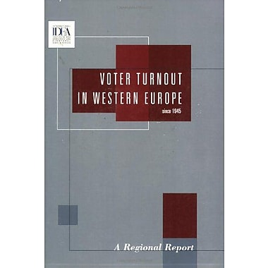 Voter Turnout in Western Europe since 1945: A Regional Report, Used Book (9789185391004)