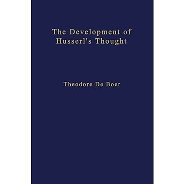 The Development of Husserl's Thought (Phaenomenologica), New Book (9789024721245)