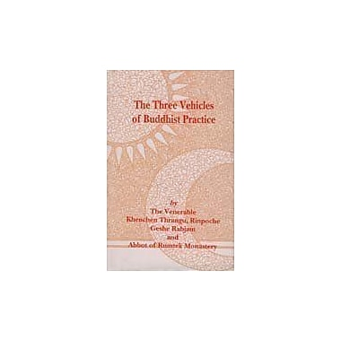 The three vehicles of Buddhist practice (Bibliotheca Indo-Buddhica series), New Book (9788170304579)