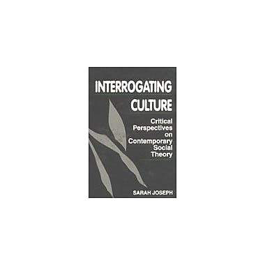 Interrogating culture: Critical perspectives on contemporary social theory, New Book (9788170367291)