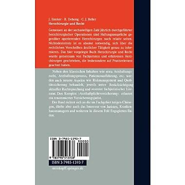 Herzchirurgie und Recht (German Edition) (9783798513938)