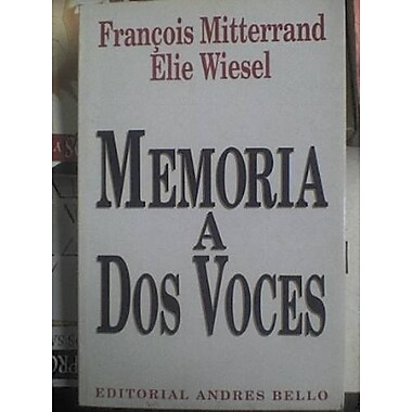 Memoria a DOS Voces (Spanish Edition), Used Book (9789561313149)
