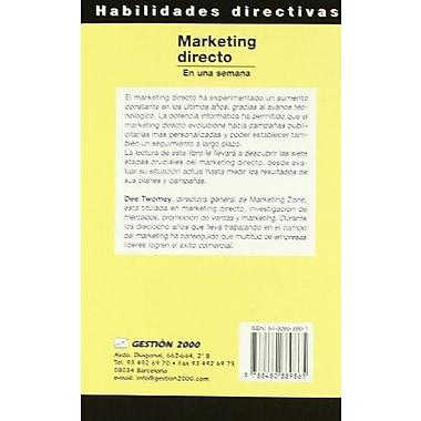 Marketing Directo En Una Semana (Spanish Edition), New Book (9788480889865)