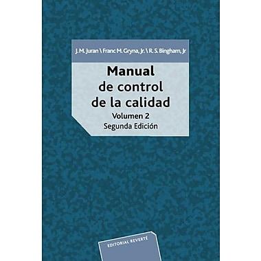 Manual de control de calidad vol 2 (Spanish Edition), Used Book (9788429126525)
