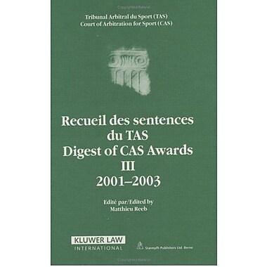 Digest of Cas Awards Iii, 2001-2003 (Digest of CAS Awards Series Set) (9789041122599)