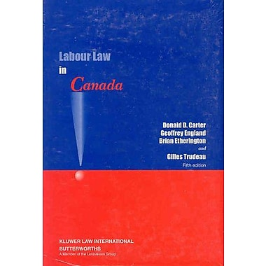Labour Law in Canada, Used Book (9789041117502)