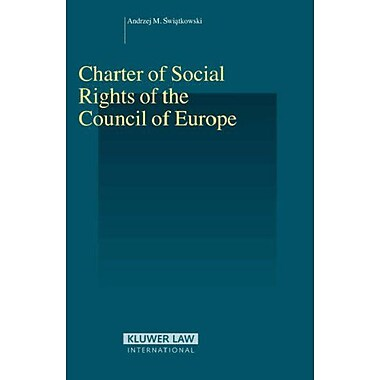 Charter of Social Rights of the Council of Europe (Studies in Employment and Social Policy), New Book (9789041126085)