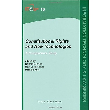 Constitutional Rights and New Technologies: A Comparative Study (Information Technology and Law Series), New Book(9789067042468)