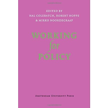 Working for Policy (9789089642530)