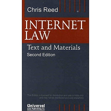 Internet Law: Text and Materials, Used Book (9788175344747)