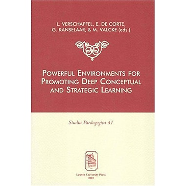 Powerful Environments for Promoting Deep Conceptual and Strategic Learning (Studia Paedagogica) (v. 41),UsedBook(9789058674692)