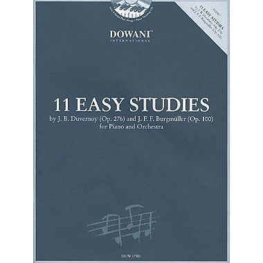11 Easy Studies by Duvernoy (Op. 276) and Burgmuller (Op. 100): for Piano and Orchestra, New Book (9783905476637)
