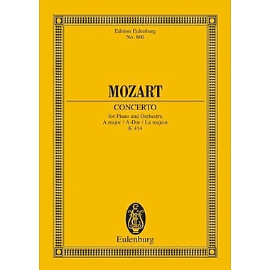 PIANO CONCERTO NO12 K414 A MAJOR STUDY SCORE (Edition Eulenburg), Used Book (9783795768492)