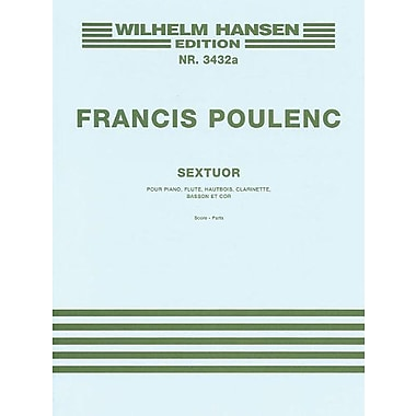 Sextuor: pour Piano, Flute, Hautbois, Clarinet, Basson et Cor, New Book (9788774552987)