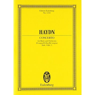 HORN CONCERTO IN D HOB.VIID:3STUDY SCORE (Edition Eulenburg), Used Book (9783795771461)