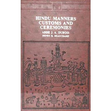 Hindu Manners, Customs and Ceremonies, New Book (9788120602380)