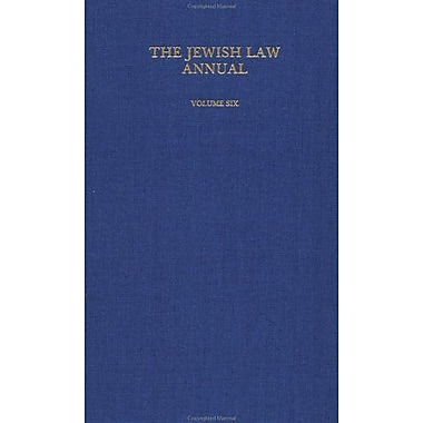 The Jewish Law Annual (Volume 6), Used Book (9783718604661)