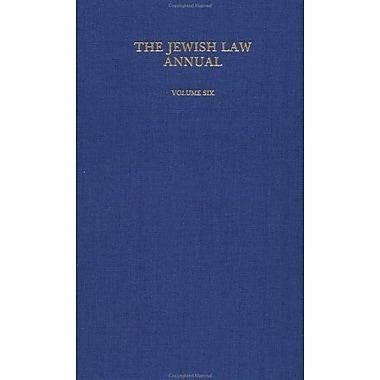 The Jewish Law Annual (Volume 6), New Book (9783718604661)