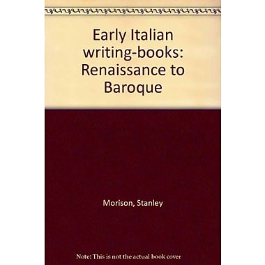 Early Italian writing-books: Renaissance to Baroque, Used Book (9788885033160)
