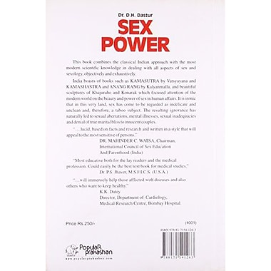 Sex Power the Conquest of Sexual Inadequacy, New Book (9788171541263)