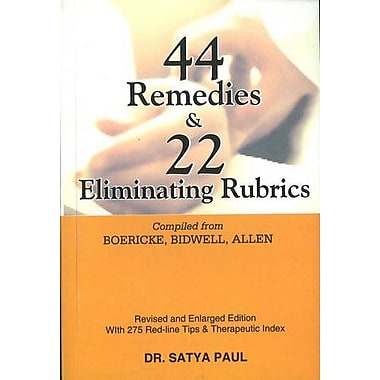 44 Remedies and 22 Eliminating Rubrics, New Book (9788170212027)