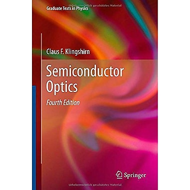 Semiconductor Optics (Graduate Texts in Physics) (9783642283611)