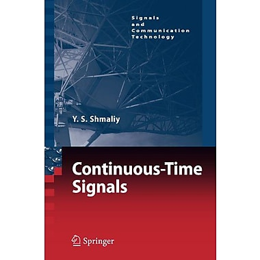 Continuous-Time Signals (Signals and Communication Technology), New Book (9789048171989)