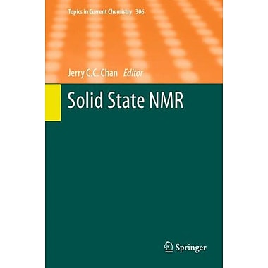 Solid State NMR (Topics in Current Chemistry), Used Book (9783642248023)