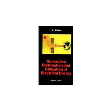 Generation, Distribution and Utilization of Electrical Energy, Used Book (9788122418477)