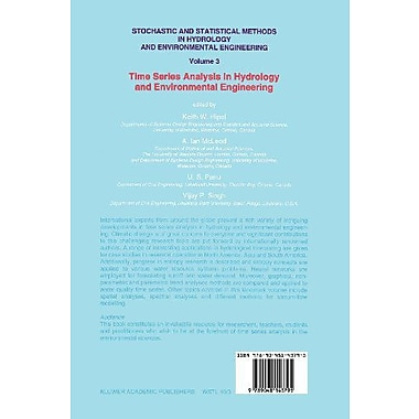 Stochastic and Statistical Methods in Hydrology and Environmental Engineering: Time Series Analysis in, New Book (9789048143795)