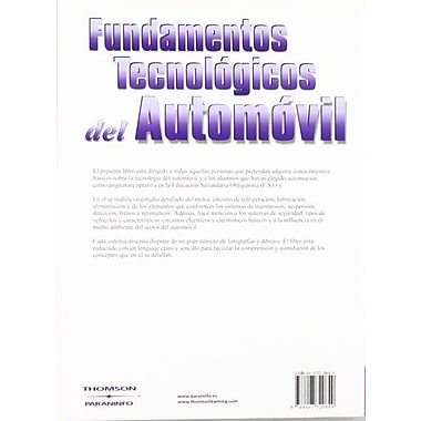 Fundamentos Tecnologicos del Automovil (Spanish Edition), New Book (9788497320849)