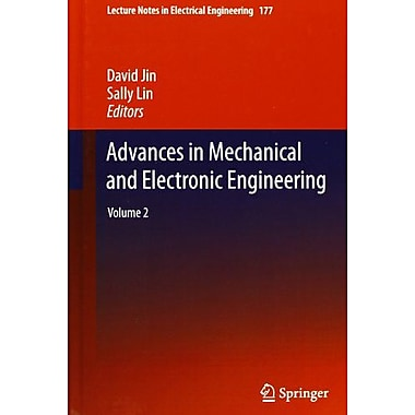 Advances in Mechanical and Electronic Engineering: Volume 2 (Lecture Notes in Electrical Engineering), New Book (9783642315152)