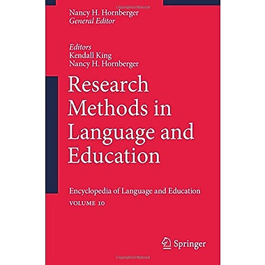 Research Methods in Language and Education: Encyclopedia of Language and EducationVolume 10, New Book (9789048194001)